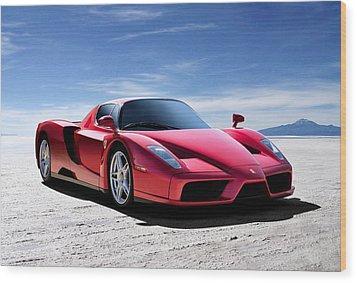 Ferrari Enzo Wood Print by Douglas Pittman