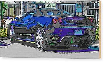 Ferrari F430 Spyder Wood Print by Samuel Sheats