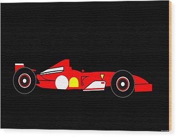 Ferrari Formula One Wood Print by Asbjorn Lonvig