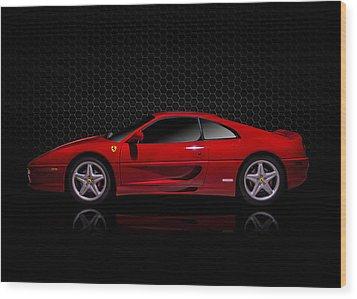 Ferrari Red - 355  F1 Berlinetto Wood Print by Douglas Pittman