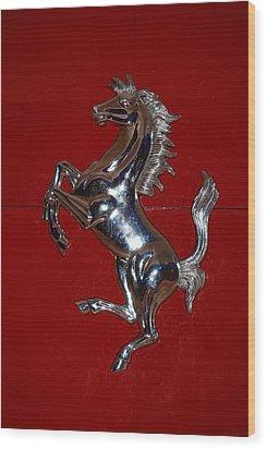 Ferrari Stallion Wood Print by Rob Hans