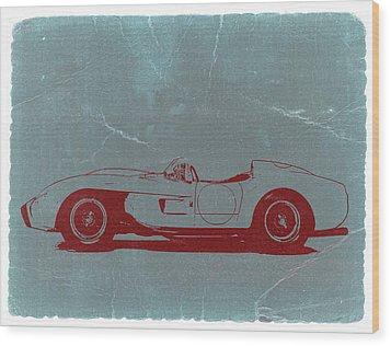 Ferrari Testa Rosa Wood Print by Naxart Studio