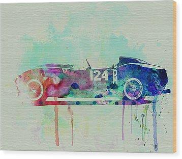 Ferrari Testa Rossa Watercolor 2 Wood Print by Naxart Studio