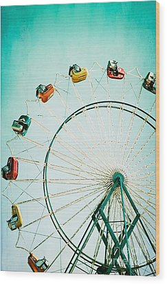 Ferris Wheel 2 Wood Print by Kim Fearheiley