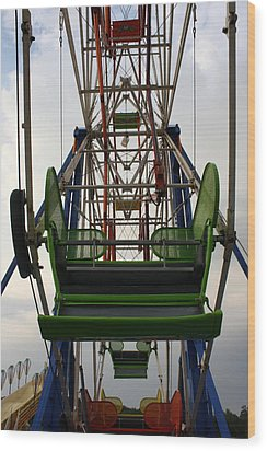 Ferris Wheel Wood Print by Anne Babineau