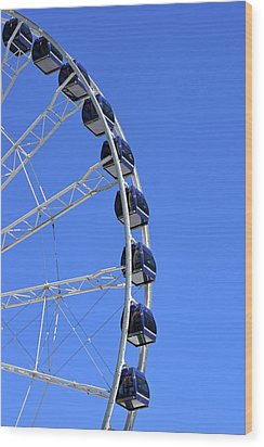Ferris Wheel At Navy Pier, Chicago No. 1 Wood Print
