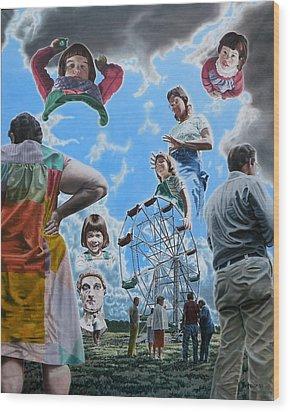 Ferris Wheel Wood Print by Dave Martsolf