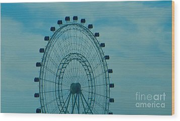 Ferris Wheel Fun Wood Print