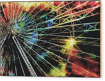 Ferris Wheel, Grand Roue Wood Print