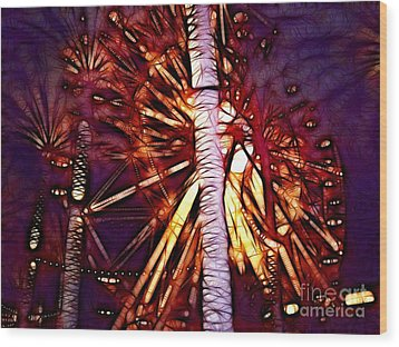 Wood Print featuring the photograph Ferris Wheel  by Mariola Bitner