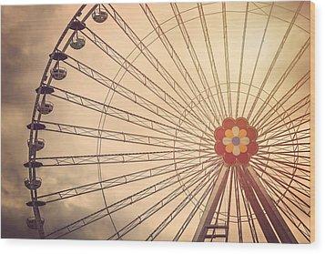 Ferris Wheel Prater Park Vienna Wood Print by Carol Japp