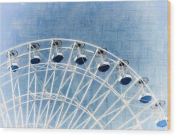 Wonder Wheel Series 1 Blue Wood Print