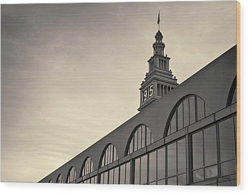 Ferry Building San Francisco I Toned Wood Print by David Gordon