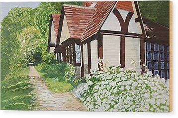 Ferry Cottage Wood Print