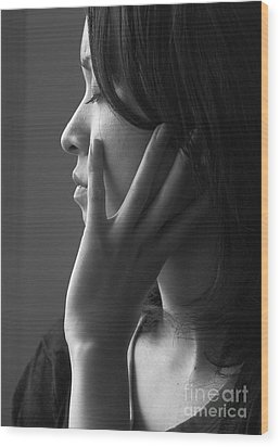 Ferry Girl Wood Print by Sheila Smart Fine Art Photography