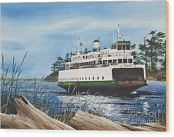Ferry Illahee Wood Print by James Williamson