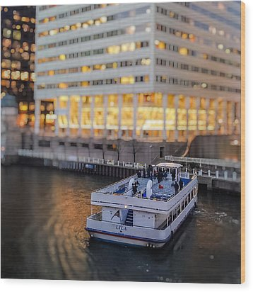 Wood Print featuring the photograph Ferry Ride by Ron Dubin