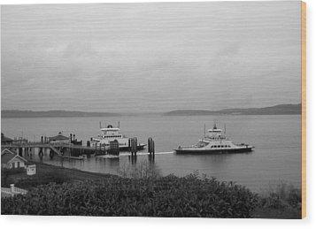 Ferry Wood Print by Ty Nichols