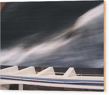 Wood Print featuring the photograph Ferry Wash by Mark Alan Perry