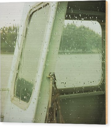 Wood Print featuring the photograph Ferry Windows by Sally Banfill