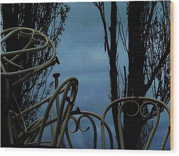 Wood Print featuring the photograph Fester by Cyryn Fyrcyd