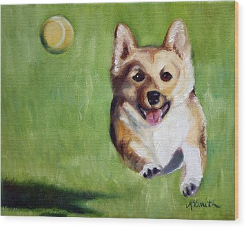 Fetch Wood Print by Mary Sparrow