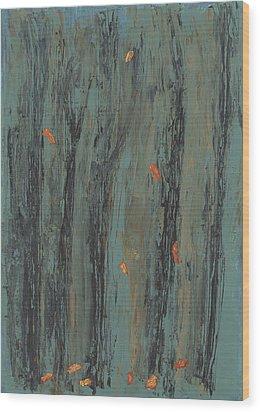Few Do Hang Wood Print by Helene Henderson