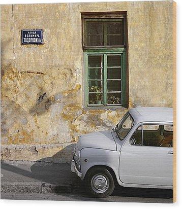 Fiat 600. Belgrade. Serbia Wood Print by Juan Carlos Ferro Duque