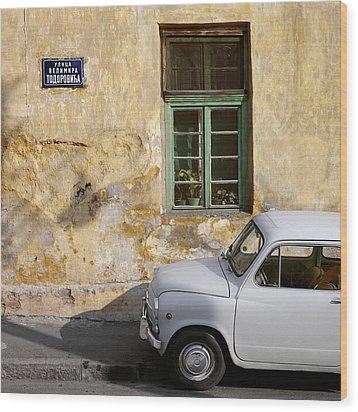 Fiat 600. Belgrade. Serbia Wood Print