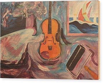 Fiddle Wood Print by Biagio Civale