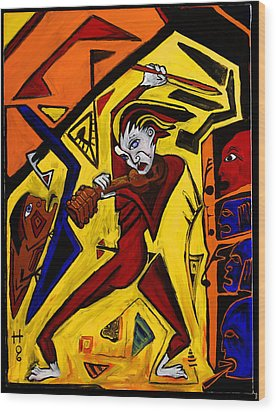 Fiddler 40x30 Wood Print