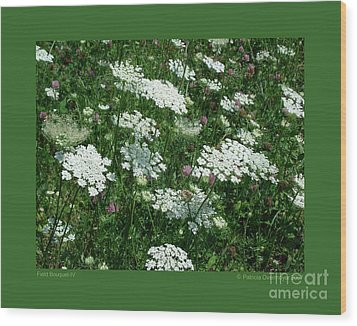 Field Bouquet-iv Wood Print by Patricia Overmoyer
