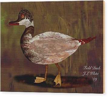 Field Duck Wood Print by Jerry White
