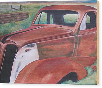 Field Find Wood Print by Gayle Caldwell
