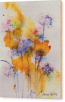 Field Flowers Wood Print by Anne Duke
