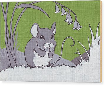 Field Mouse Wood Print by Sarah Webb