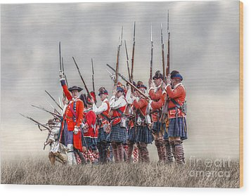 Field Of Battle The Charge Wood Print by Randy Steele
