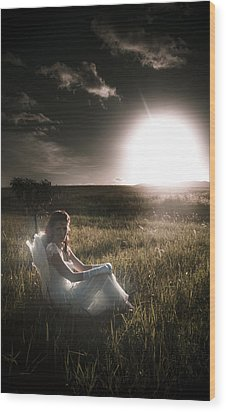 Wood Print featuring the photograph Field Of Dreams by Jorgo Photography - Wall Art Gallery