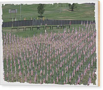 Field Of Flags - Gotg Arial Wood Print