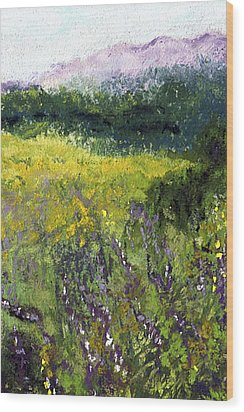 Field Of Flowers Wood Print by David Patterson