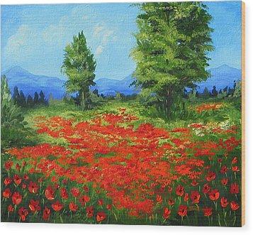 Field Of Poppies IIi Wood Print by Torrie Smiley