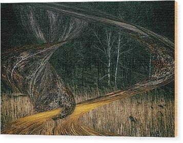 Field Warping Wood Print