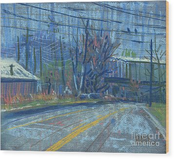 Field's Drive Wood Print by Donald Maier
