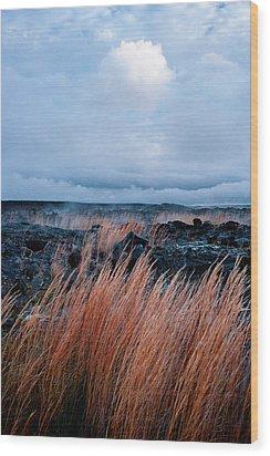Fields Of Fire Wood Print