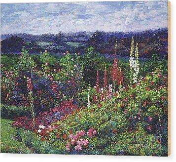 Fields Of Floral Splendor Wood Print by David Lloyd Glover