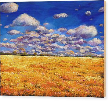 Fields Of Gold Wood Print by Johnathan Harris