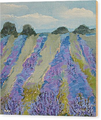 Fields Of Lavender Wood Print