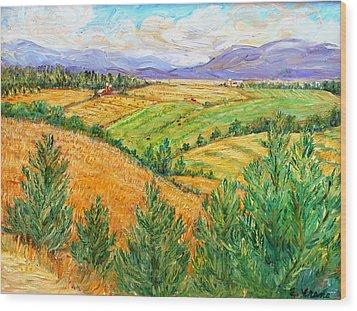 Fields Of Summer Wood Print by Ethel Vrana