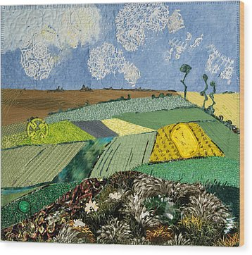 Fields To Gogh Wood Print