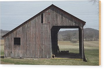 Fieldshed Wood Print by Don Koester